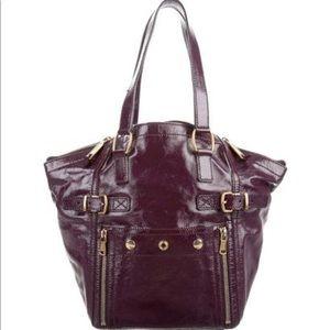 Yves Saint Laurent Patent Leather Downtown Bag.